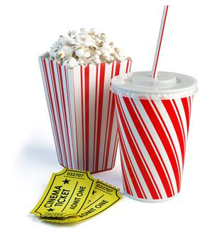 Popcorn at the cinema (stock photo)