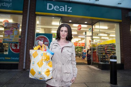 Deirdre Reynolds outside a branch of Dealz. Photo: Arthur Carron