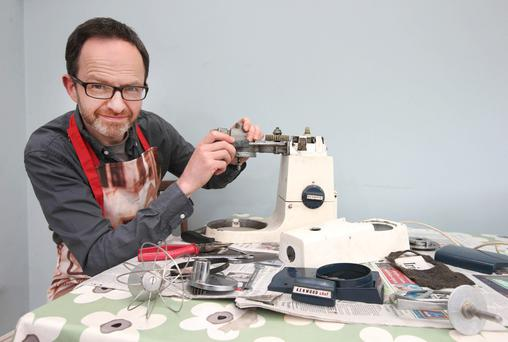 john Cradden, from Celbridge who is rebuilding his 1970's Kenwood Mixer. Photo: Damien Eagers