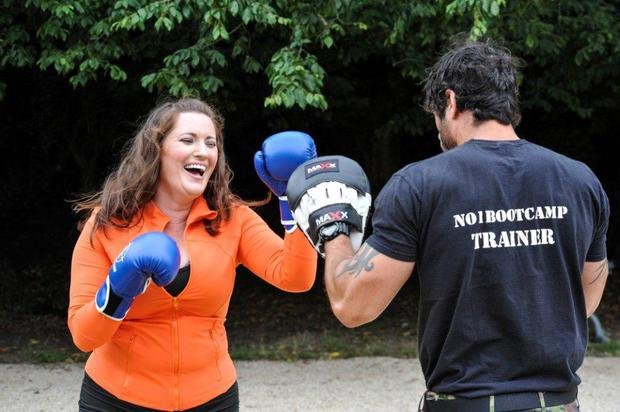 Elaine Crowley on a fitness bootcamp