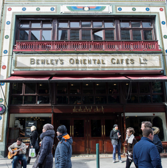 An outside view of Bewleys