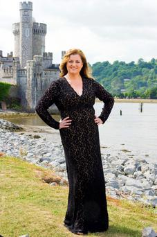 Opera singer Cara O'Sullivan at Blackrock Castle on the River Lee, Cork.