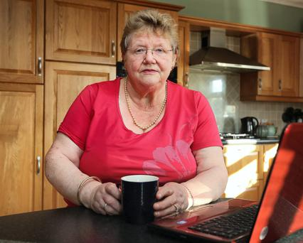 Pensioner Maura O Keeffe pictured at her home near Maynooth, Co Kildare