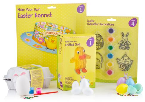 'Make your own...' Easter kits from Dealz, €1.49, www.dealz.ie
