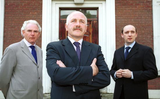 From left, non-executive director John Mulholland, CEO Harry Cassidy, and investment director John Whyte, all formerly of Custom House Capital, which has been called a 'sort of a Ponzi scheme'