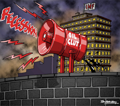 The IMF has warned that share price mayhem is around the corner. Is it right? Cartoon: Tom Halliday