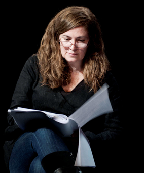Andrea Irvine reading at the Abbey Theatre Photo: Monika Chmielarz Photo: Monika Chmielarz