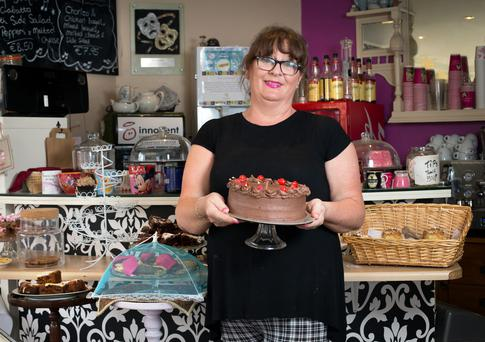 Monica Hannigan in her cafe, the Broadway Cafe, in Dunboyne, Co Meath.