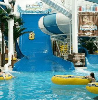 The incident happened at the Funtasia Waterpark in Drogheda just after 6pm on Sunday