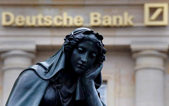 Troubled: Deutsche Bank has total liabilities of about €1,800bn. It is faced with fines from the US authorities over the mis-selling of mortgage-backed securities, while the current low-interest environment is not helping its profitability eitherpened