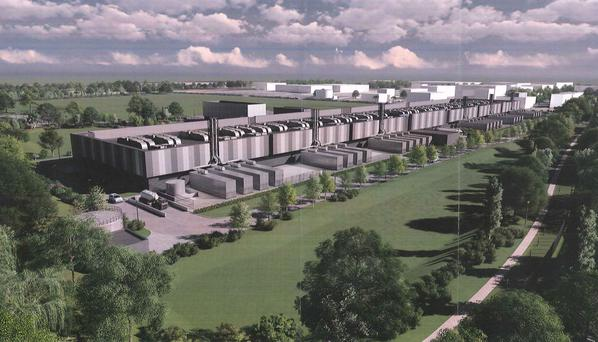 An artist's impression of the data centre plan for the capital