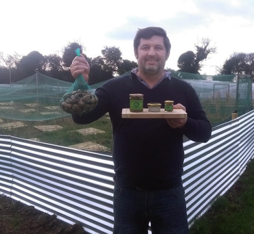 Marek Pokorny, founder of Shamrock Escargots: 'I took a risk with snail farming as I was stepping into the unknown'.