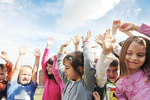 'Children flourish in caring environments where they experience positive interaction with adults.' (Stock picture)