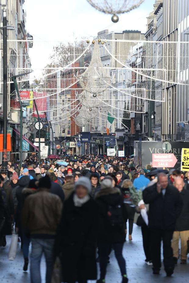 Black Friday shopping scenes on Grafton Street, Dublin.