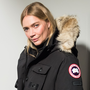 Model Jodie Kidd at Canada Goose's 60th anniversary event in London. Photo: Getty Images