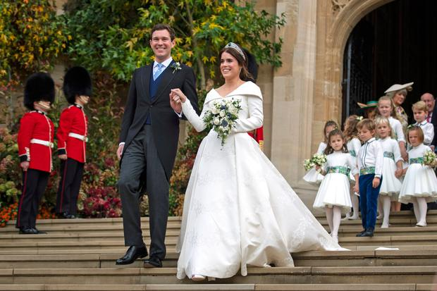 Princess Eugenie Broke Royal Tradition With Her Second Wedding Dress