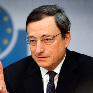 Going up: Mario Draghi is expected to announce an ECB rate rise next year. Photo: AFP/Getty Images