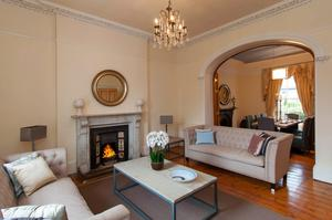 The drawing room at No 30 Royal Terrace West
