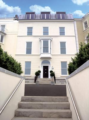 The exterior of the Dun Laoghaire property