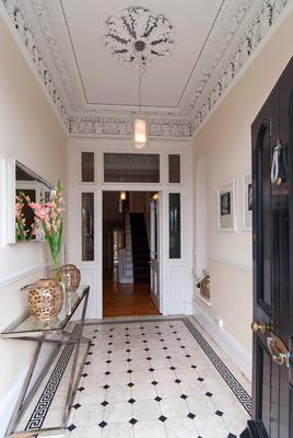 The entrance hall of No 30 Royal Terrace West