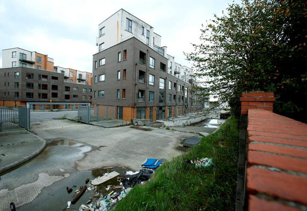 The Priory Hall development in north Dublin. What can be done to support innocent victims and also give future purchasers some assurance that the State, however belated, now has this crisis firmly under control, and will never again be found asleep at the supervisory wheel? Photo: PA