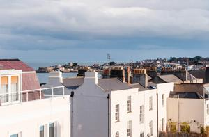 The scenic view of Dun Laoghaire Harbour from the Pierre apartment.