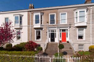 30 Royal Terrace West (black door) is a four-bed home on over 3,000 sq ft in Dun Laoghaire