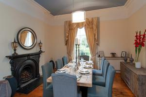 The dining room in No 30 Royal Terrace West