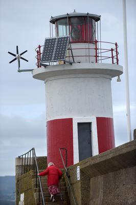 Lighthouse at Wicklow Harbour