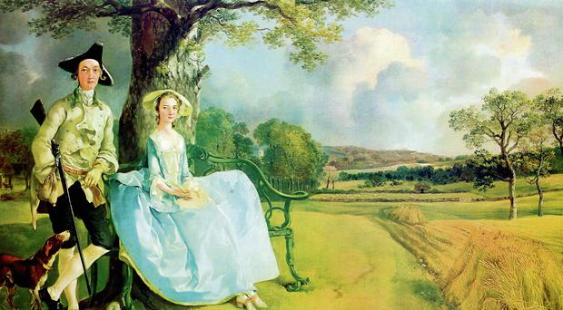 Property Owners In The Clover: 'Mr and Mrs Andrews' by Thomas Gainsborough, 1750. National Gallery, London