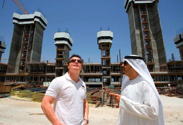 Brian O'Driscoll at the closed-in Tiara Residence Apartments in Dubai, where he purchased in a gated schemed during the boom
