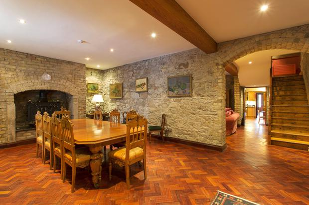 The reception room at No 20 Lansdowne Road is currently used as a dining room