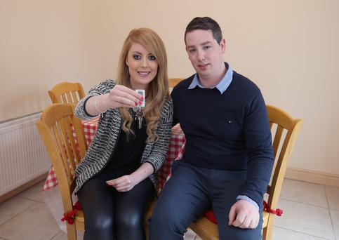 New home buyers, Siobhan Donnelly and Tony Walsh inside their home, on Maolbuille Road, Glasnevin. Picture credit; Damien Eagers