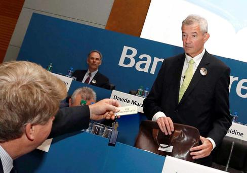 DETERMINED: Bank of Ireland chief, Richie Boucher, says he will not lower the bank's standard variable interest rates