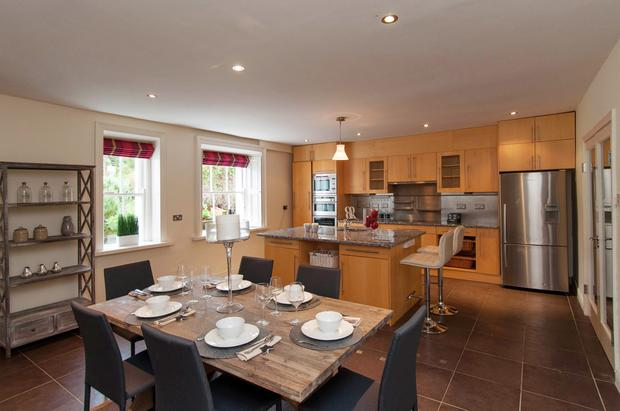 The open-plan kitchen in 30 Royal Terrace West