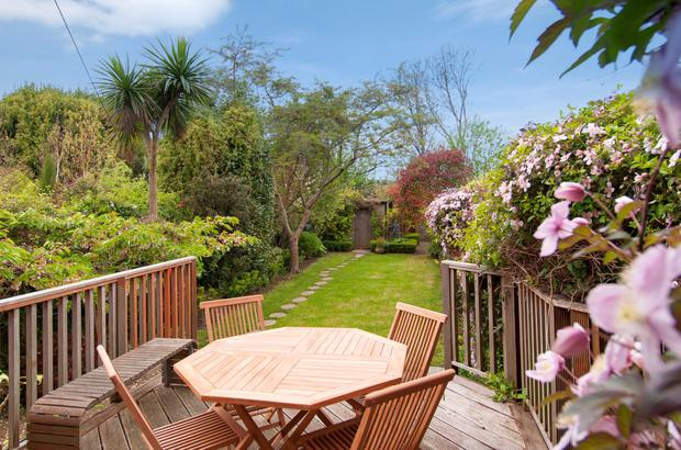 The back garden of No 30 Royal Terrace West