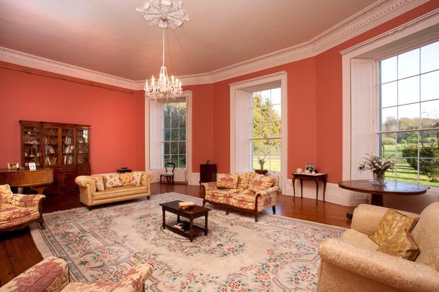 A reception room in Loughton House