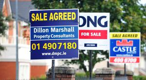 The pace of house price growth in Dublin has collapsed  from a rate of almost 25pc in mid-2014 to an annual rate of less than 3pc at the end of last year. Photo: Bloomberg