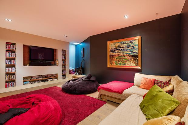 The teenager's cinema room