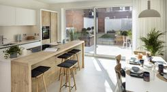 The kitchen/diner at No 12 The Garden Residences at Whitfield Road
