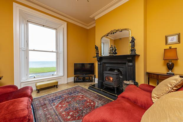The views across the Irish Sea from Bower House living room