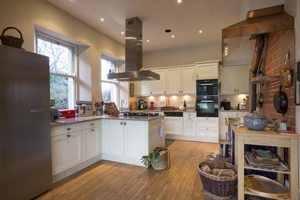 The traditional and expansive kitchen