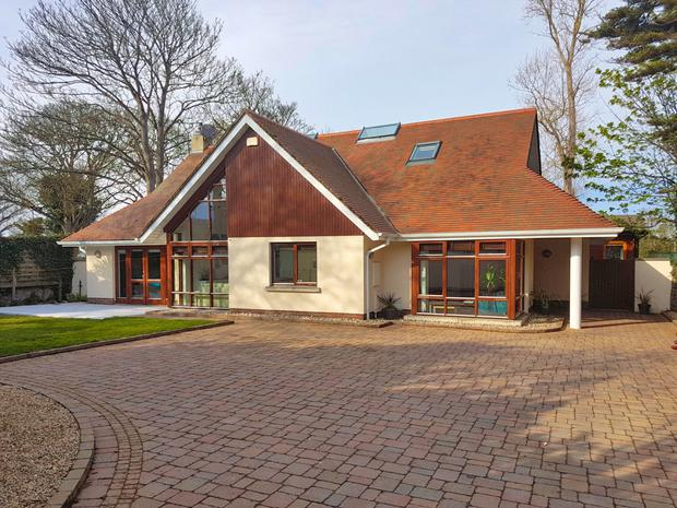 An A-frame frontage is characterised by extensive use of timber