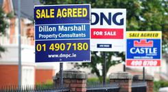 Property price inflation has eased again as affordability increasingly becomes an issue for home buyers, particularly in the capital. Stock image