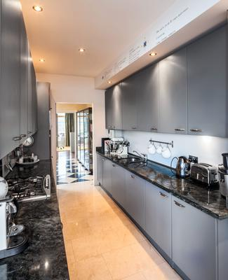 The kitchen in Penthouse 34 at The Pavilion in Dun Laoghaire