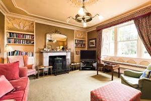 One of Glendalough House's living rooms