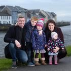 Sinead Conlon with her husband Ronan and children Orla (4), Eoin (6) and Ciara (1). Photo: Bryan Meade