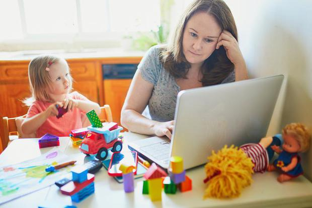 More people are working from home. Stock image