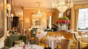Why don't webat an eyelid at the price of a cup of coffee in a hotel? It's the experience. Pictured, The Lord Mayor's Lounge in the Shelbourne Hotel