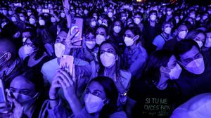 Music fans at a concert at Sant Jordi stadium in Barcelona, Spain in March. The music industry has called for similar trial events here. Photo: Angel Garcia/Bloomberg